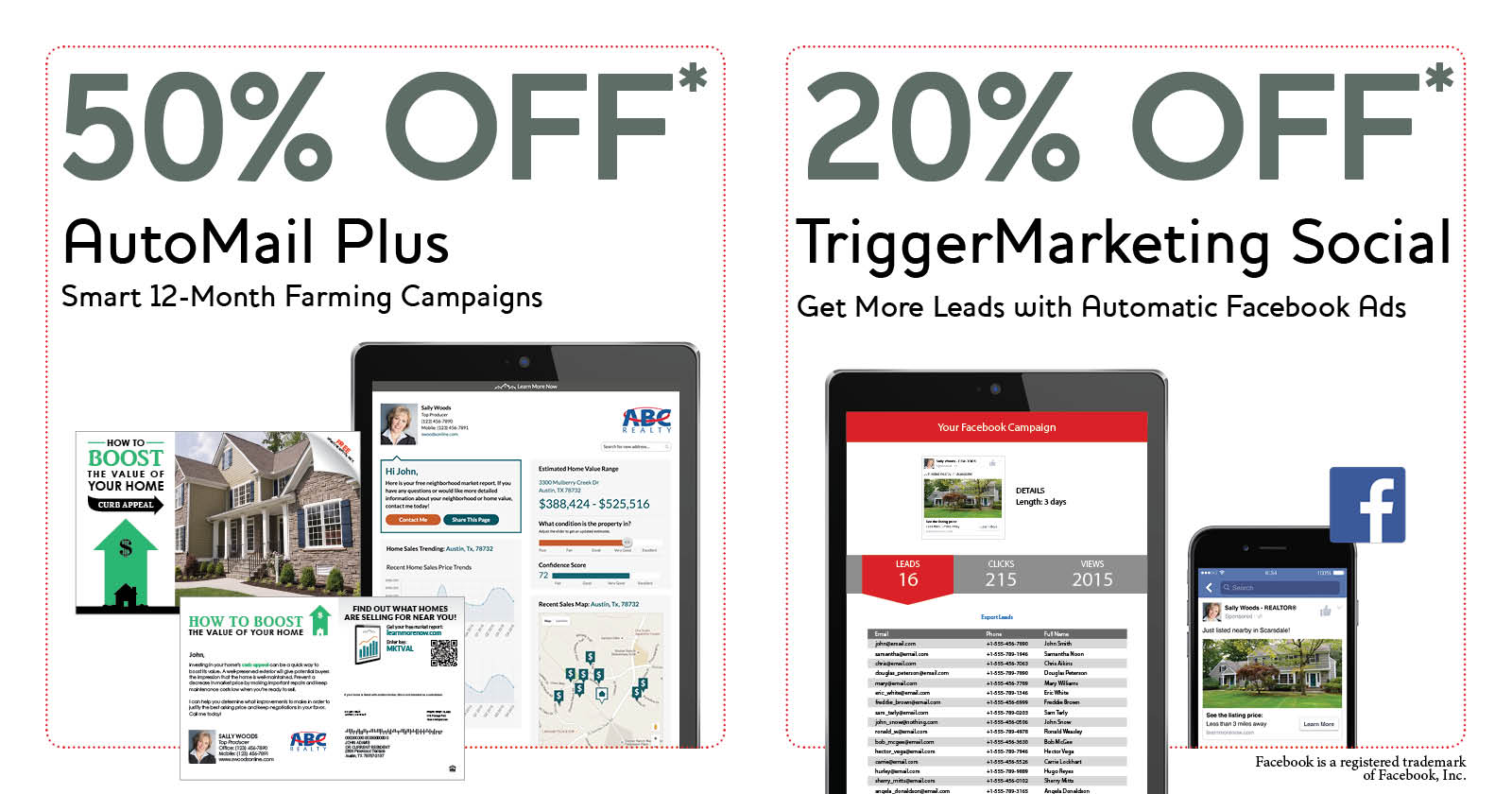 special offers for automail and triggermarketing social